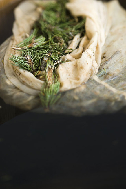 Stefano Scatà Food Lifestyle and Interiors photographer  Cooking with mountain pine at Hotel Bad Schorgau