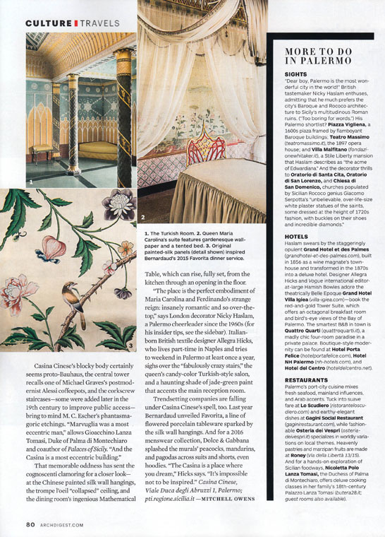 Stefano Scatà Food Lifestyle and Interiors photographer - ARCHITECTURAL DIGEST November 2016