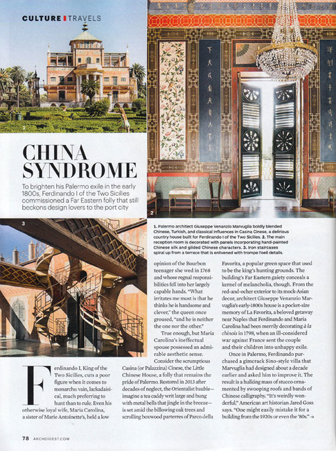 Stefano Scatà Food Lifestyle and Interiors photographer  ARCHITECTURAL DIGEST November 2016